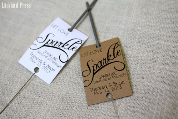 Sparkler Wedding Tags