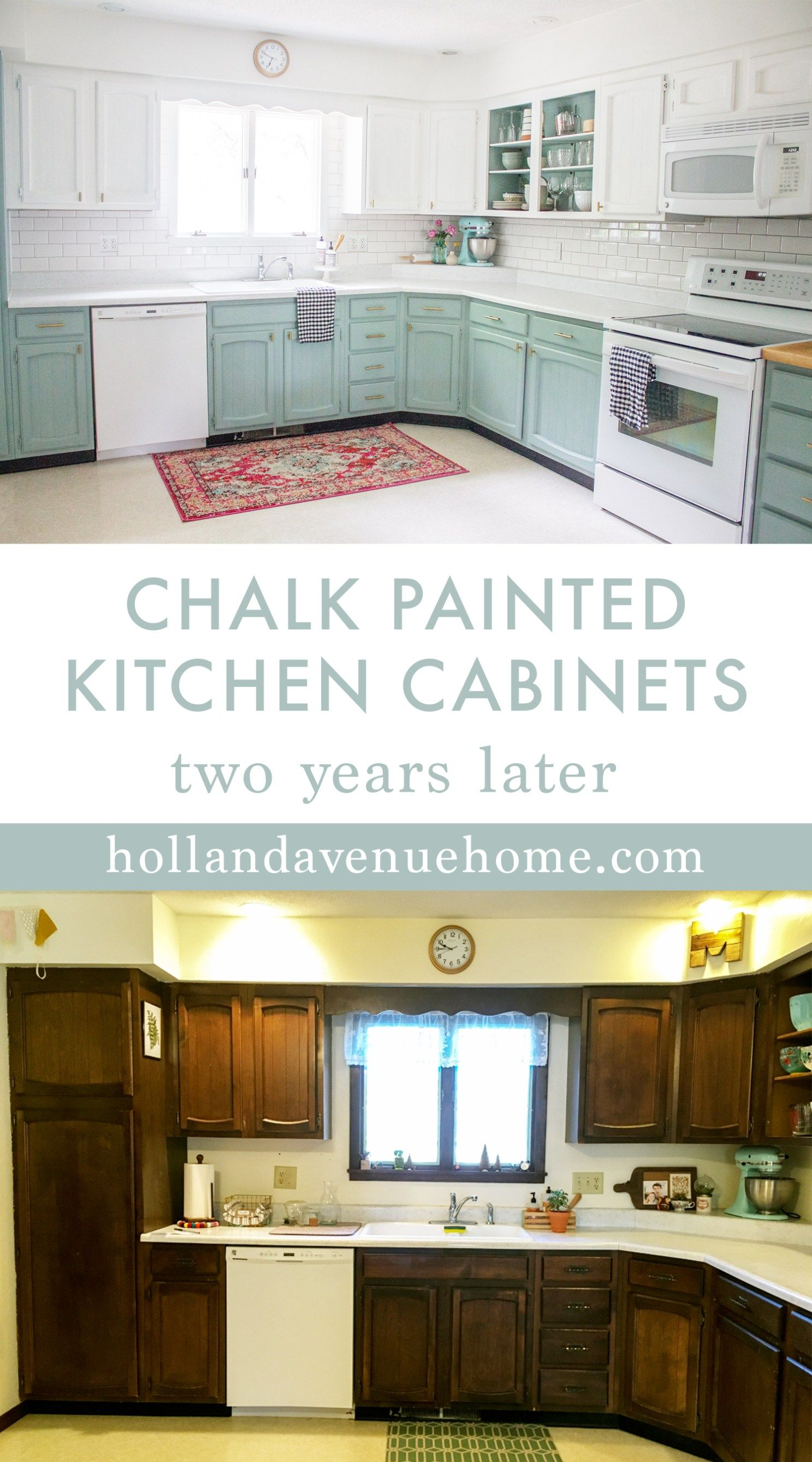 chalk painted kitchen cabinets two years later | chalk paint