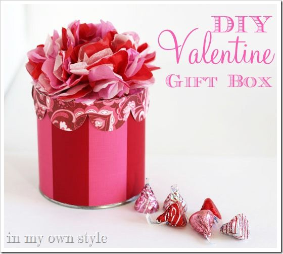 valentines day gift ideas made from a victorias secret box in my own style