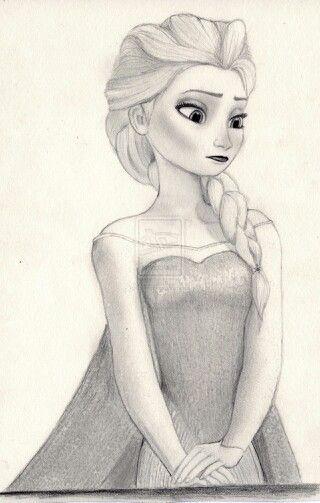 Frozen Elsa Drawing Disney Drawings Sketches Disney Sketches