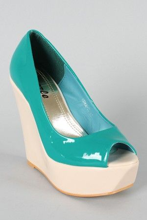 Venue-01 Patent Peep Toe Wedge $29.90
