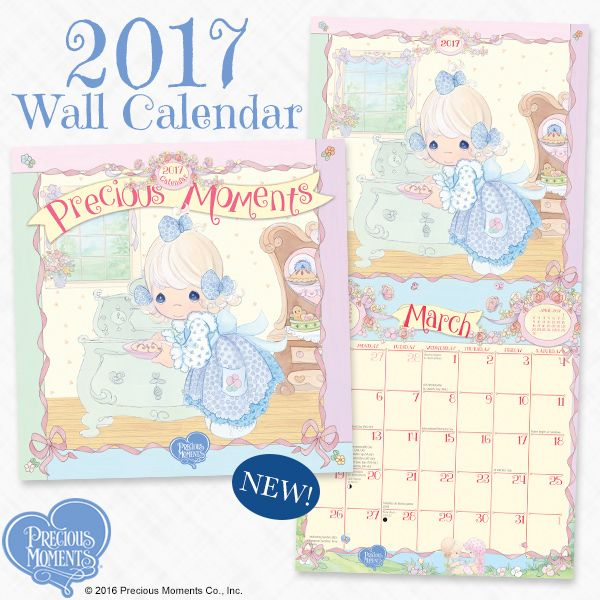 Greet 2017 with an organized plan! Our illustrated wall calendar can be used to keep the whole family on the same page all year-round.  #PreciousMoments #LifesPreciousMoments #2017Calendar #2017WallCalendar