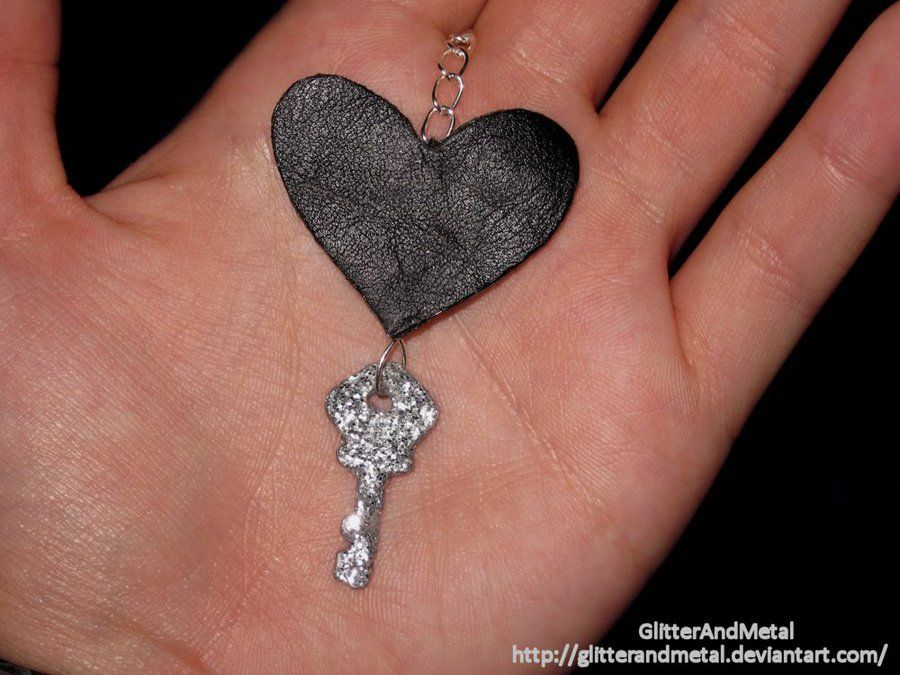 Key to the Heart Pendant by GlitterAndMetal.deviantart.com