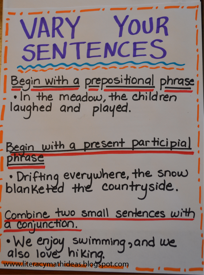 Image result for expanding sentence anchor chart