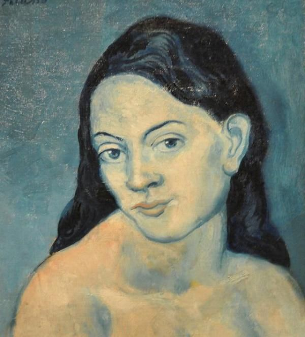 Pablo Picasso  (1881-1973) 'Head of a Woman'  1903 Metropolitan Art Museum, New York  #art