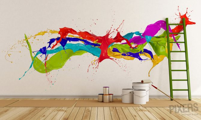 funky wall mural Nice Paint Jobs Pinterest Wall murals Paint