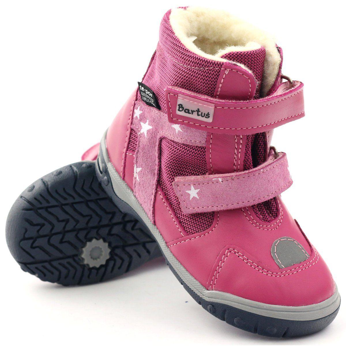 Bartus Trzewiki Kozaczki Z Membrana 315 Rzepy Rozowe Boots Childrens Boots Kid Shoes
