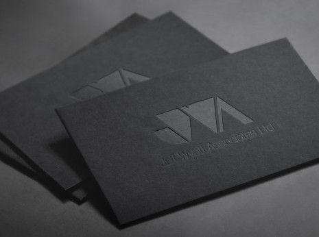 business cards debossed logo