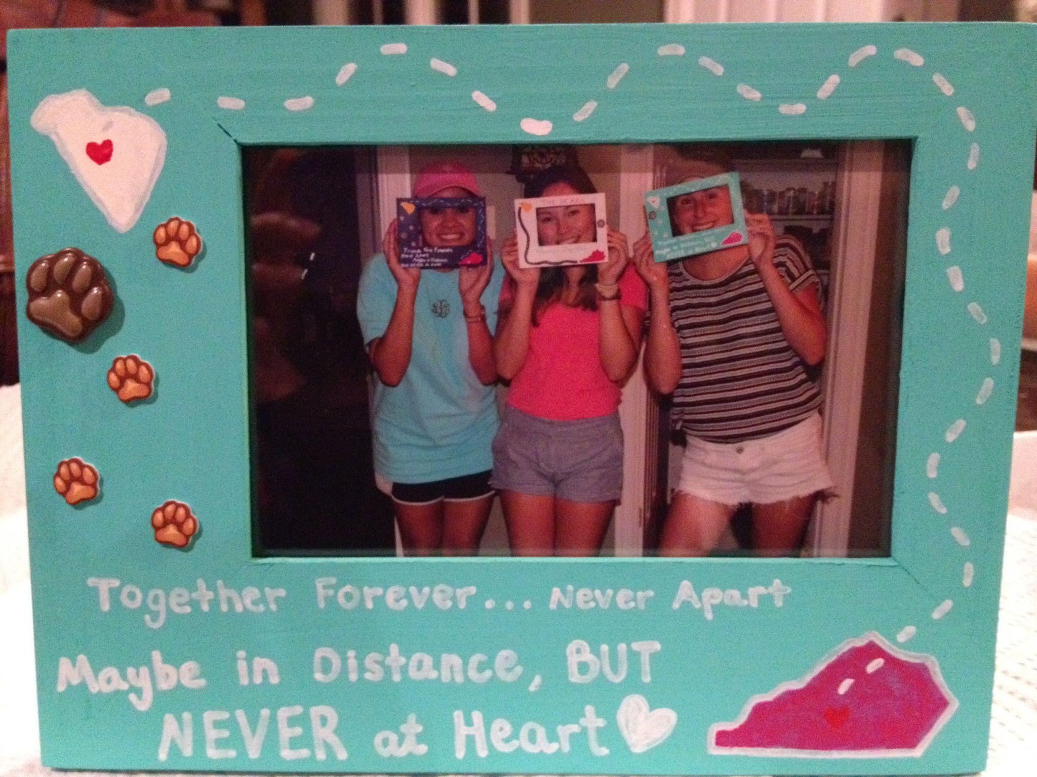 long distance friendship picture frame