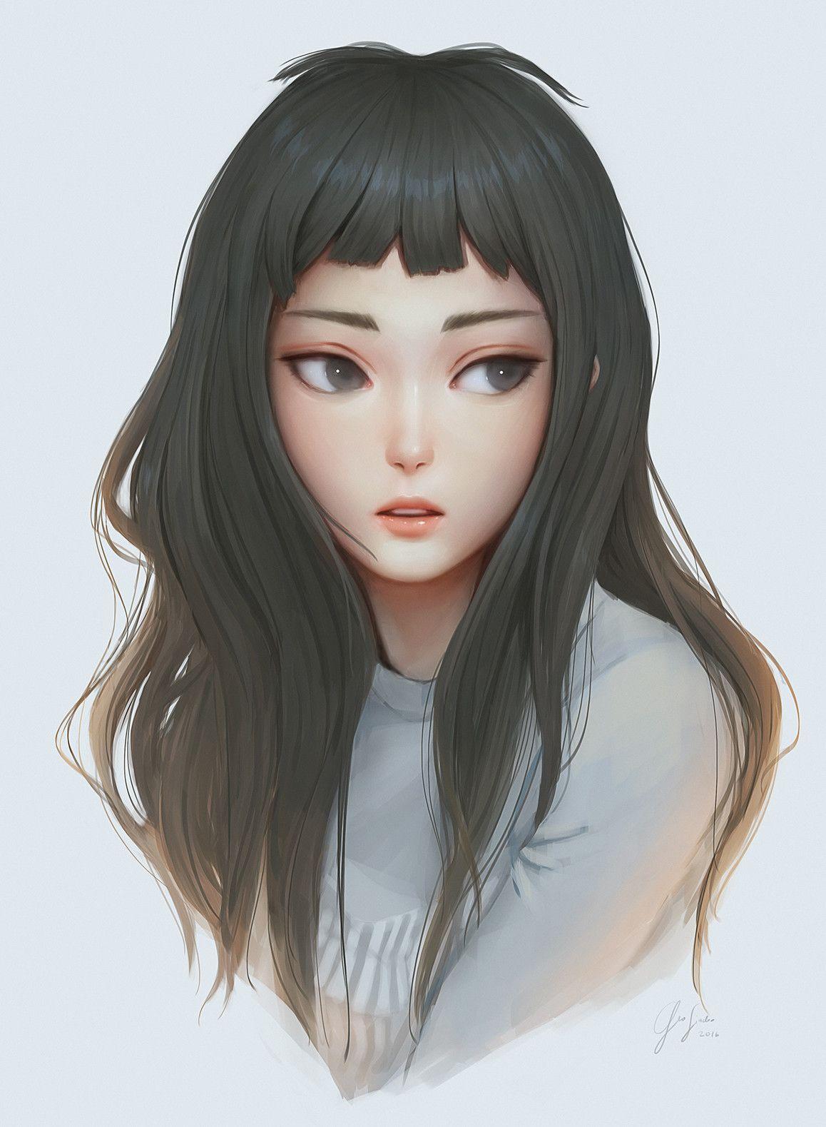 Portrait Geo Siador On Artstation At Https Www Artstation Com Artwork 0l2yk Digital Art Girl Art Girl Anime Art Girl