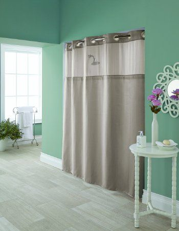 Amazon Com Hookless Vintage Medallion Silver Shower Curtain With