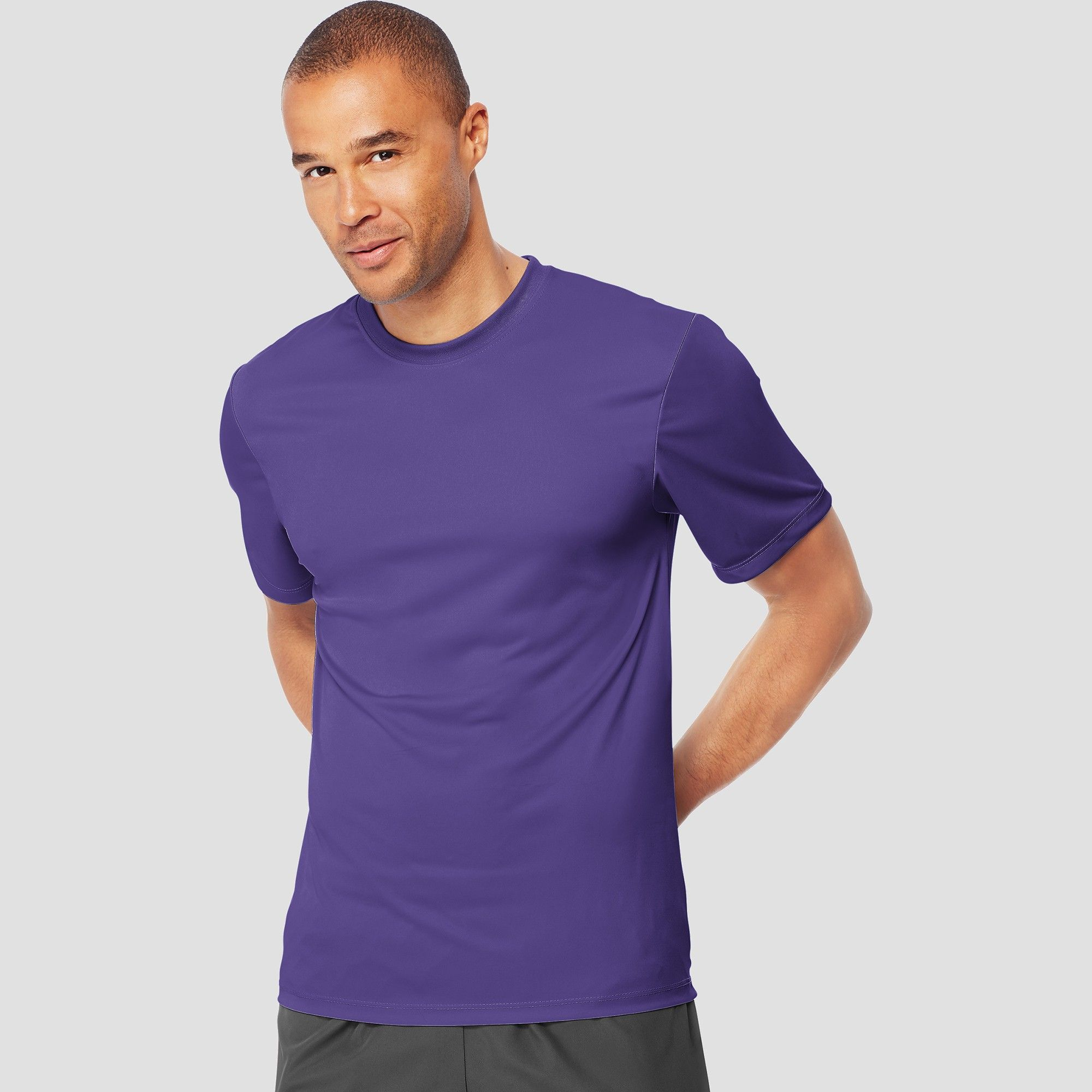 feafda249 Hanes Men s Short Sleeve CoolDRI Performance T-Shirt -Purple M ...