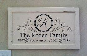 Suzie HomeCaker: Family Name Established Sign