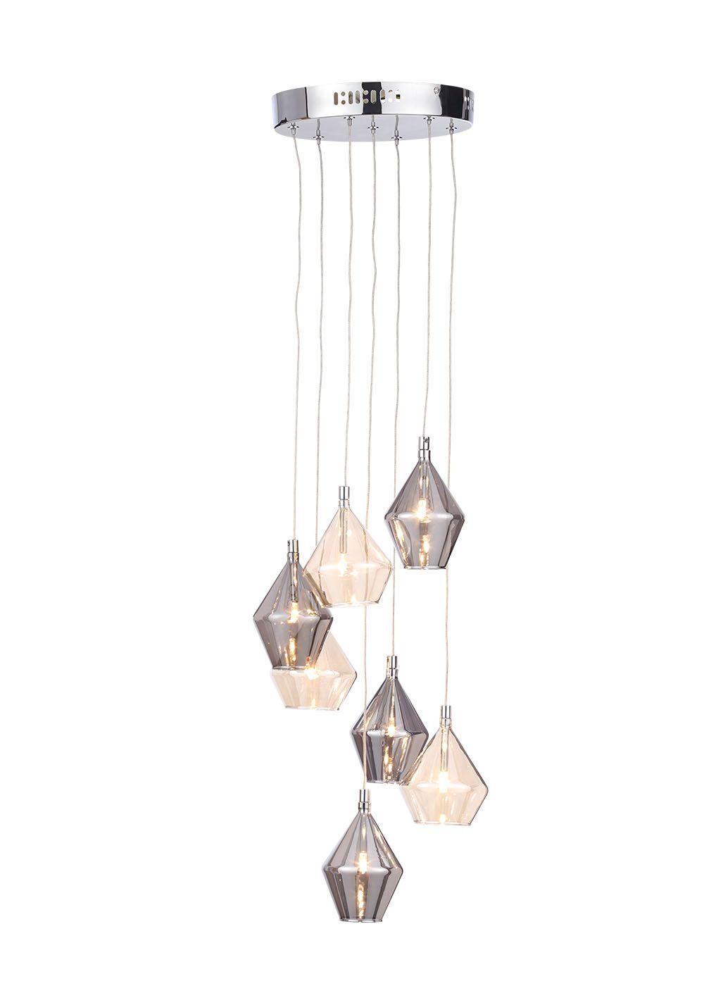 Elara Cer Pendant Light H100cm 57cm X W25cm Multi