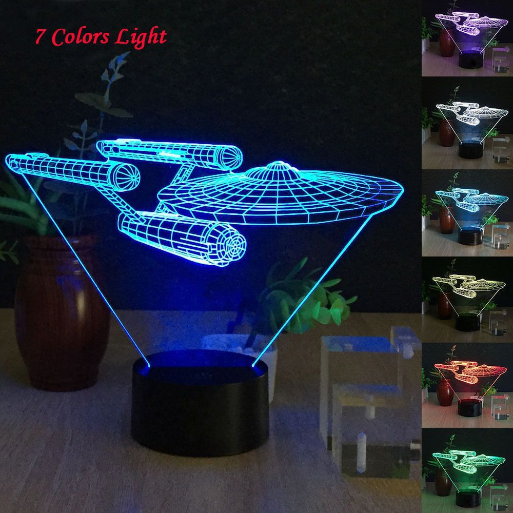 Star Trek 3d Led Night Light Lamp 7 Color Changing Touch Switch Table Desk Lamps Led Night Light Night Light Led Desk Lamp