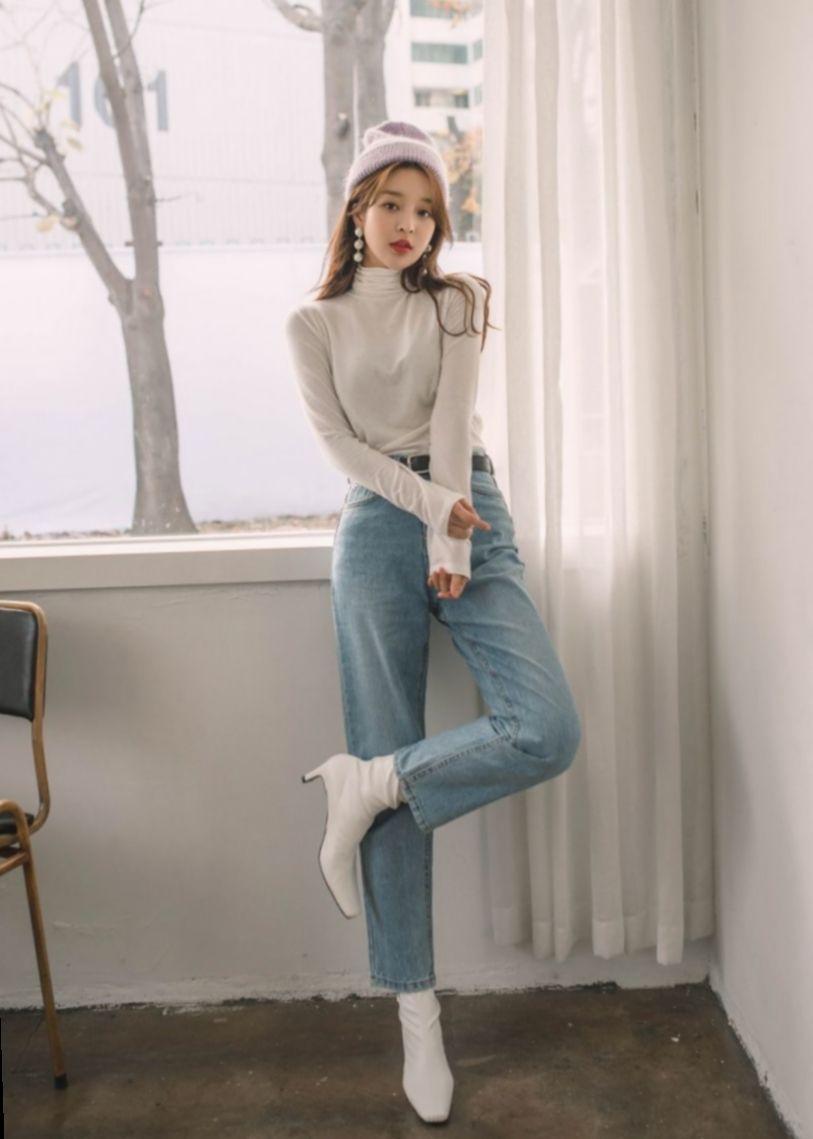✓ Fashion Style Korean Skinny Jeans #followme #photography #style