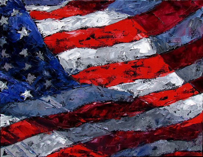 c32d71b36f8 abstract american flag painting - Google Search