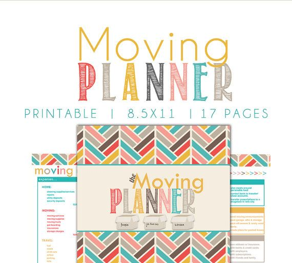 Moving Planner Moving Printable Moving By Breezyorganization