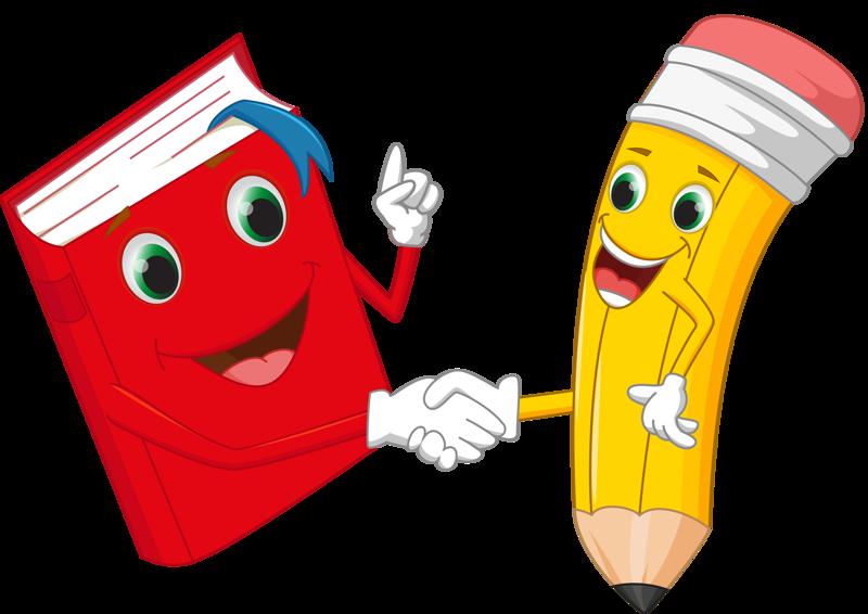 Funny cartoon pencil vector material 03 [преобразованный].png | OBRÁZKY - DĚTSKÉ | Escolares ...