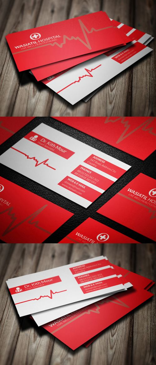 Doctor Business Card PSD Template #businesscards ...