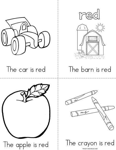 I Love The Color Red Mini Book Color Red Activities Preschool Colors Color Activities Color red worksheets for kindergarten