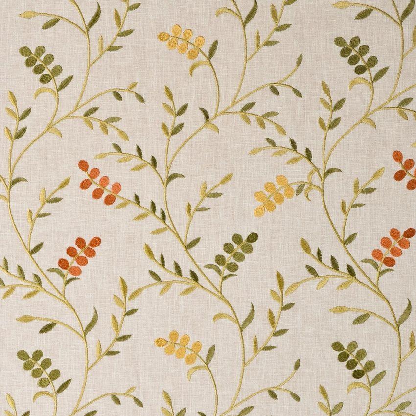 Brown Cotton Fabric Dressmaking Ehua Leaf Cotton