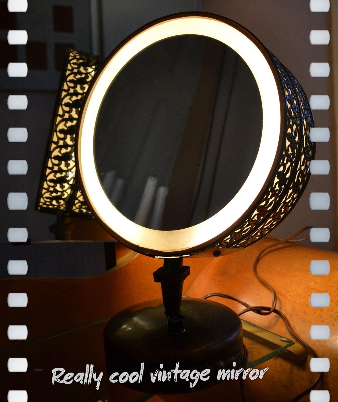 Casco Vintage Vanity Filagree lamp with mirror. Retro ...