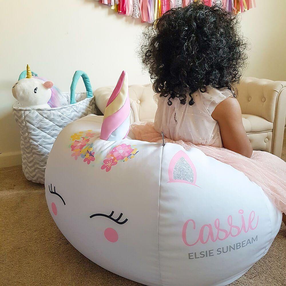 Childrens beanbag 3d unicorn design in 2020 kids bean
