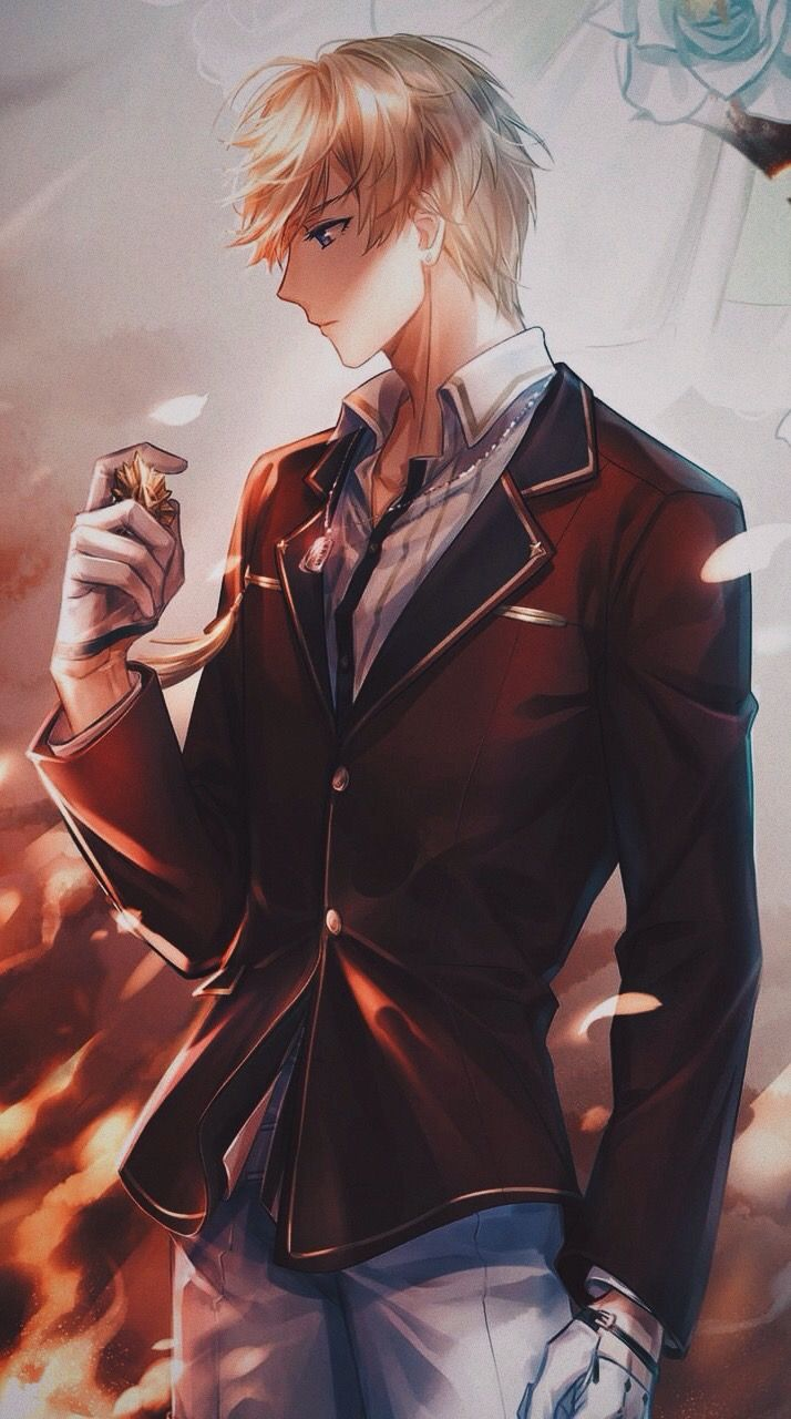 Anime Guy Blonde Hair Blue Eyes Suit Formal Handsome Anime Guys Anime Drawings Boy Handsome Anime