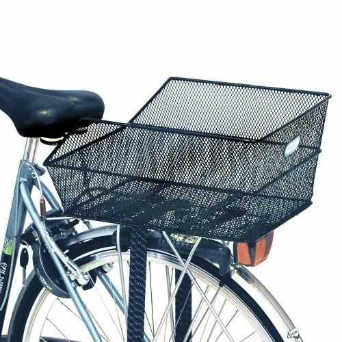 Best Bike Basket Ever Rear Lights Zip Tied It Very Bright And