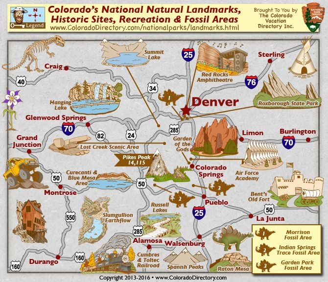 Colorado S National Historic Sites And Landmarks Map