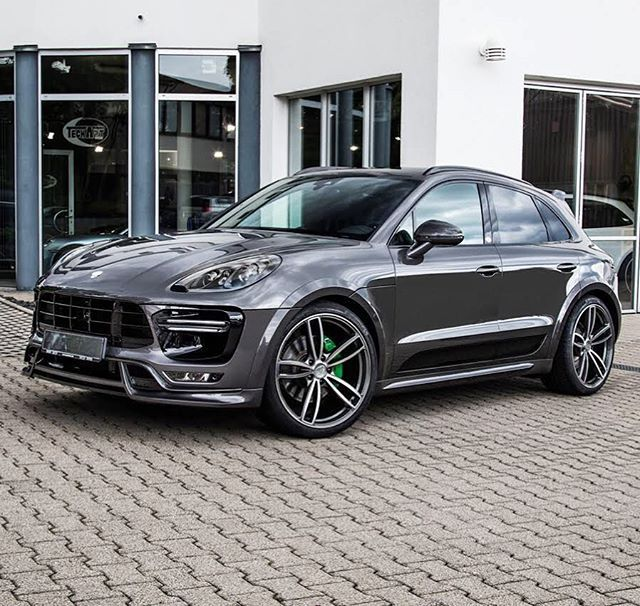 "Best 30 Luxury Porsche Sport Cars Collections: TECHART Macan Turbo Widebody With 22"" Formula IV Wheels"