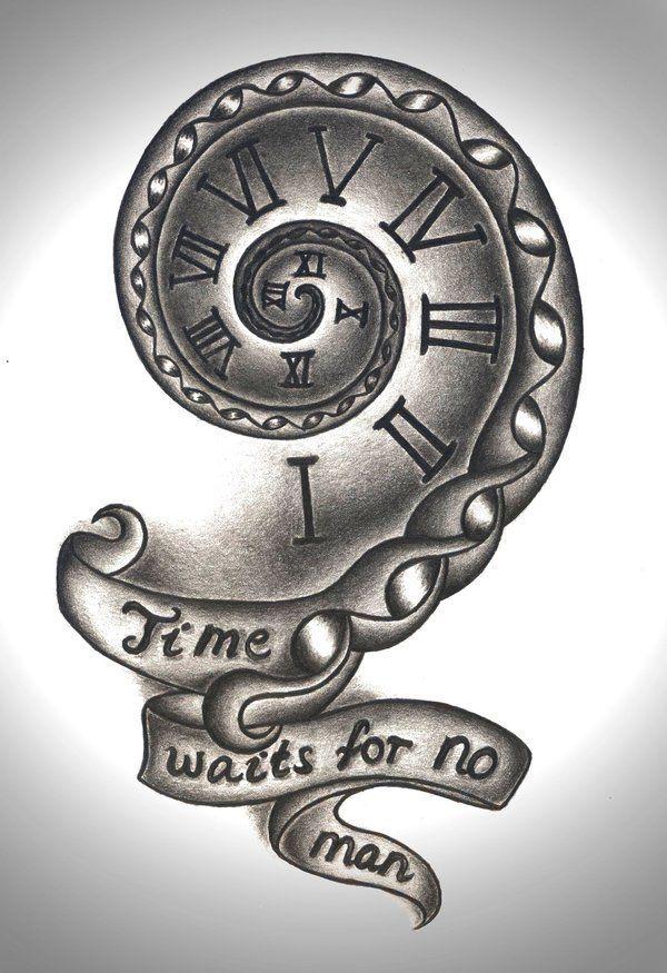 Time Waits For No Man Tattoo Design By Mortar Girldeviantartcom