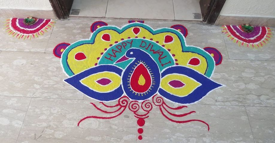 Simple Rangoli Design Rangoli Rangoli Designs Easy Rangoli And Diwali Rangoli