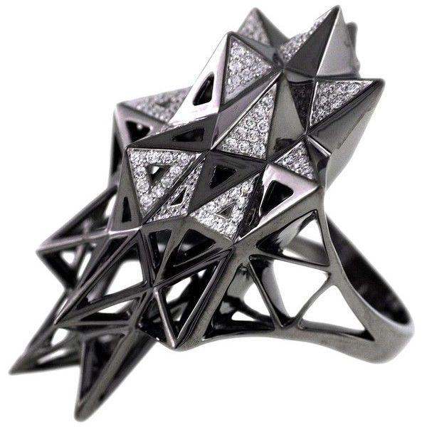 John Brevard Stellated Star Diamond Gold Ring wIHUeJM2q