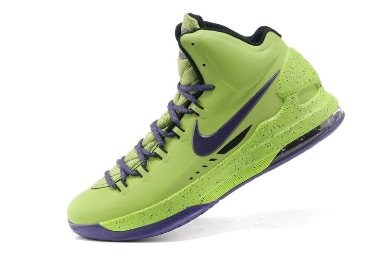 kevin durant shoes 2013 Nike KD V Volt LawnGreen Court Purple Glow in the  dark 7b93985ed24b