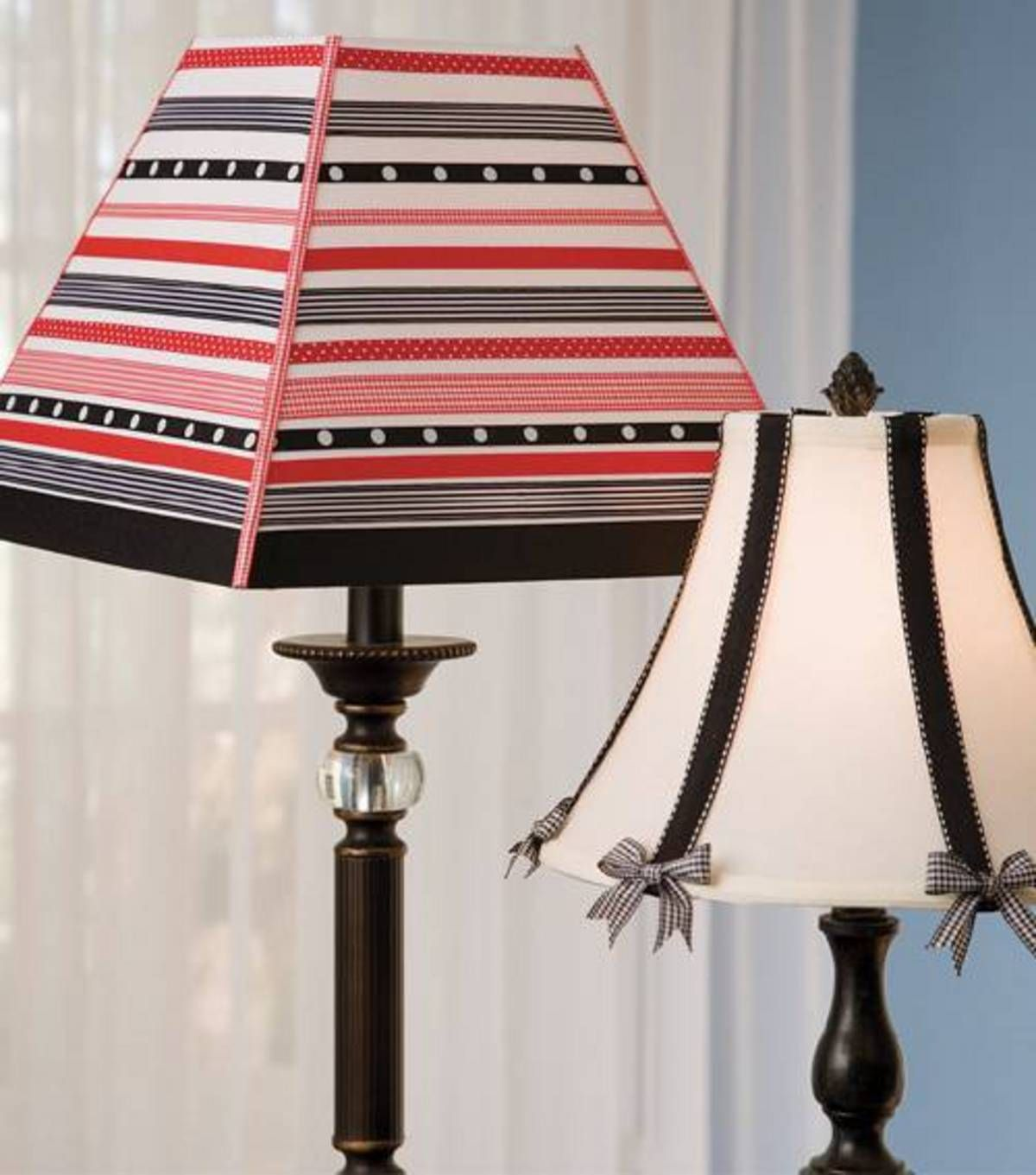 Ribbon embellished lampshades at joann decor pinterest ribbon embellished lampshades at joann mozeypictures Choice Image