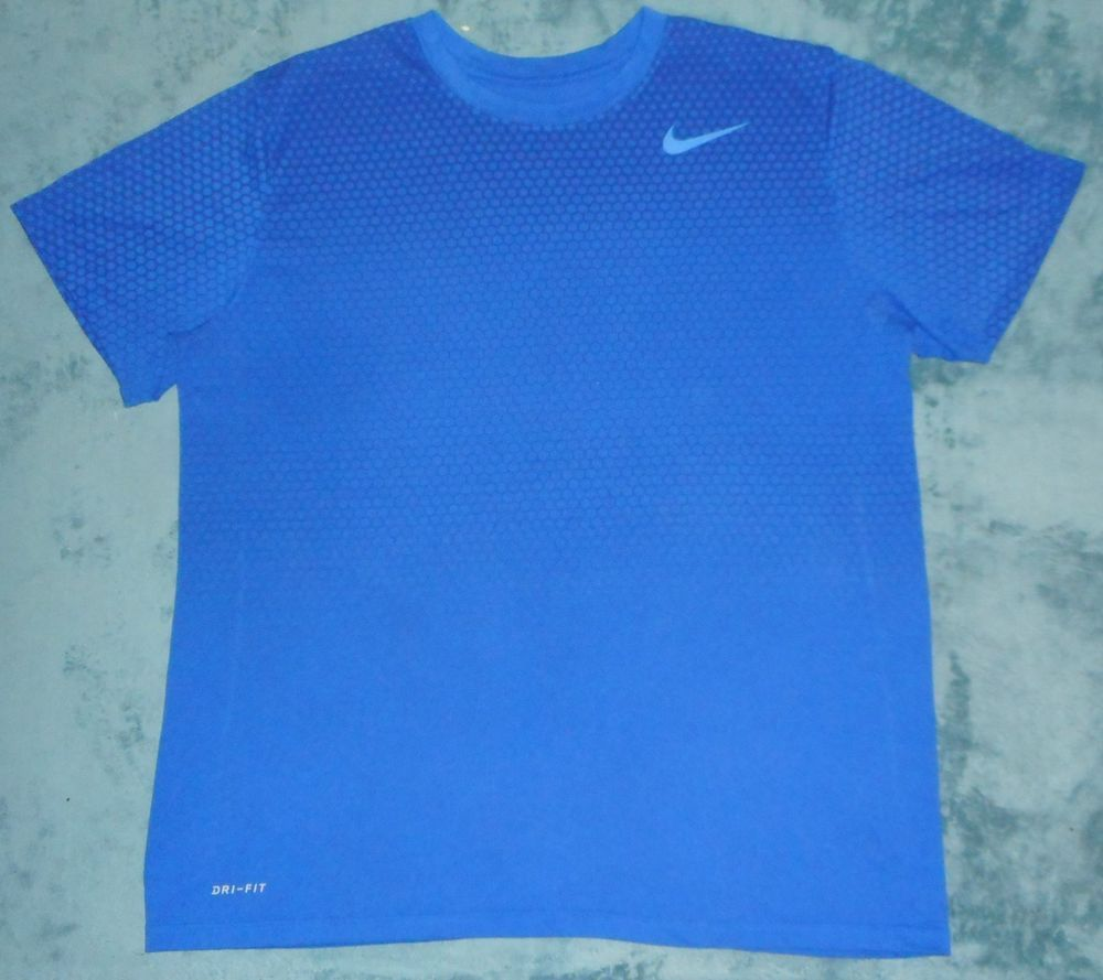52d0b687 Nike Dri Fit Blue Geometric Pattern Fade Workout Active Tshirt Mens Size XL  #fashion #clothing #shoes #accessories #mensclothing #shirts (ebay link)
