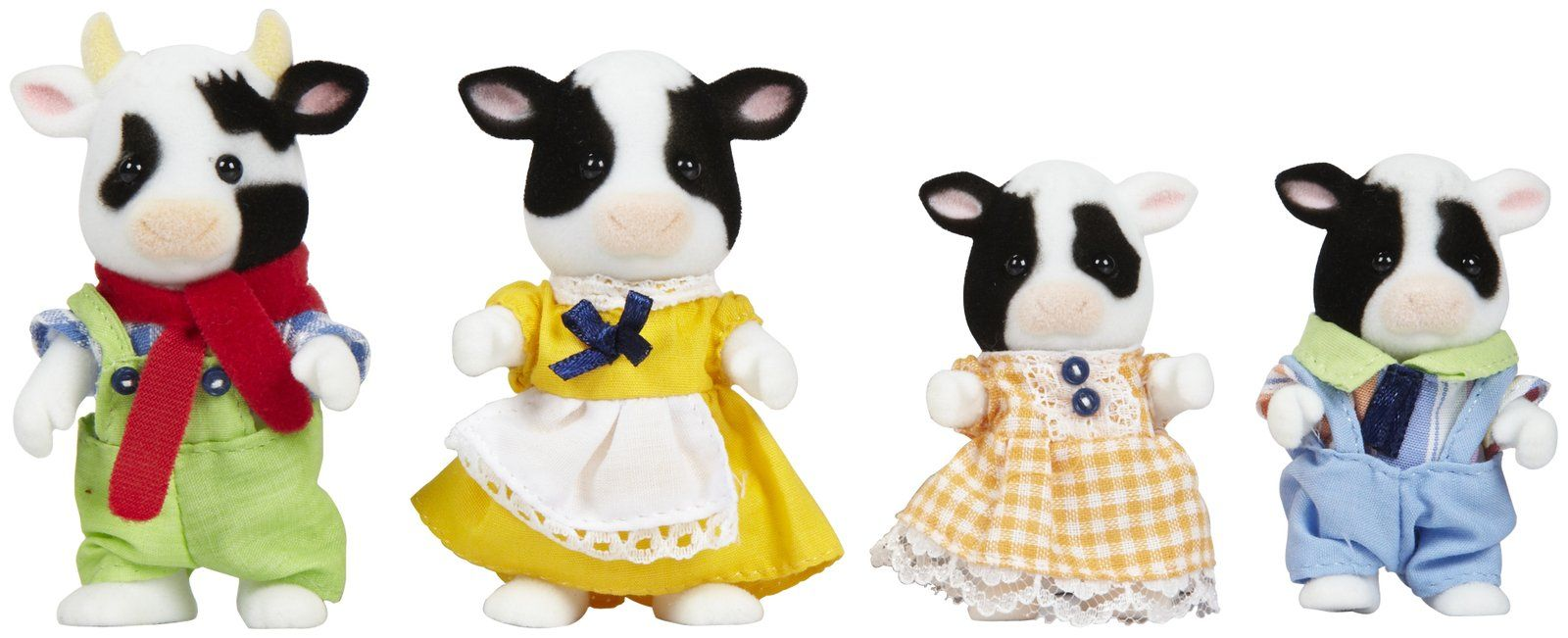 Calico Critters Friesian Cow Family Free Shipping
