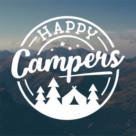 Happy Campers Decal, Vinyl Sticker, Campers Decal, Car Decal, Adventure Decal, Jeep Decal, Camping