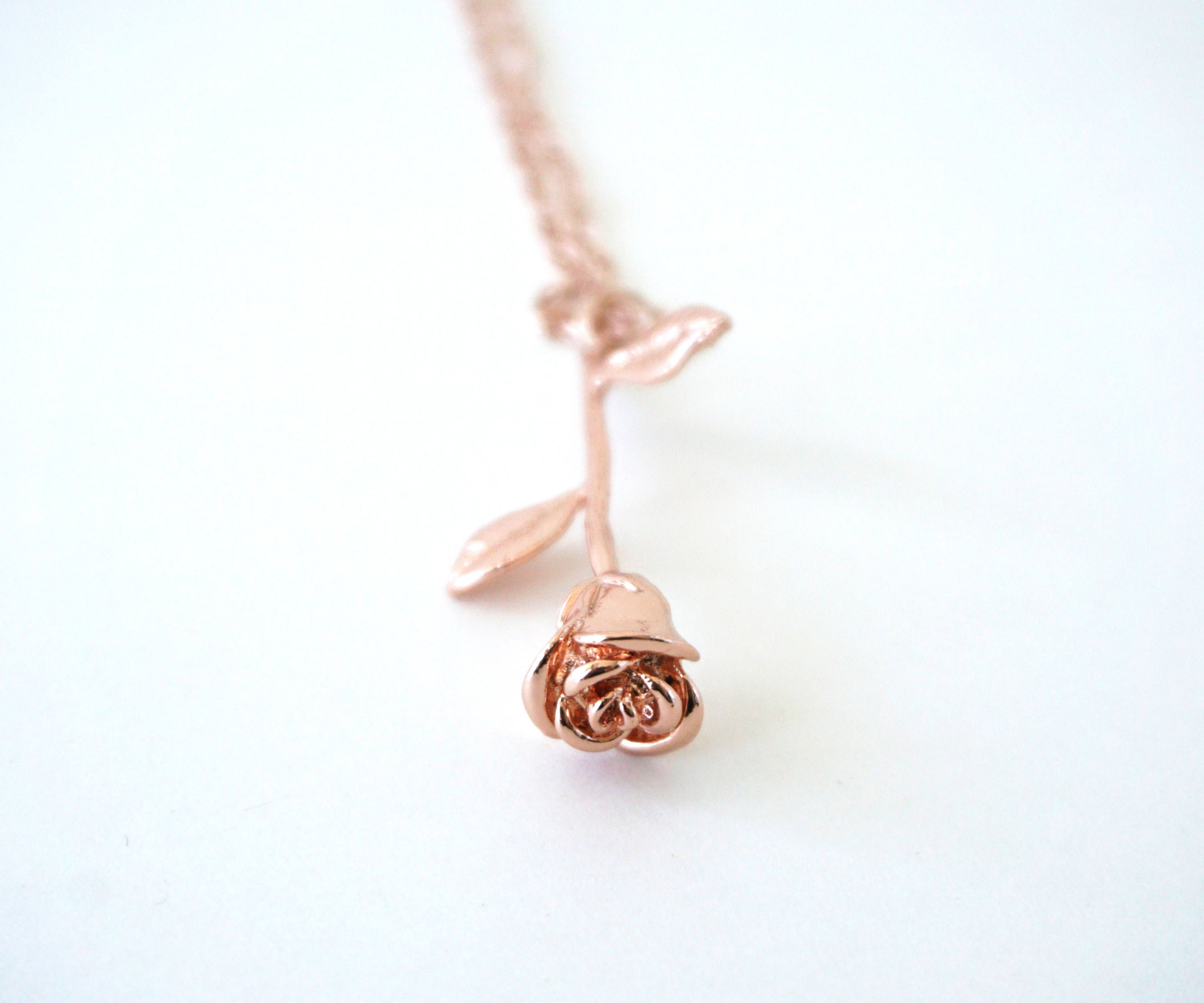 and necklace beast womens disney couture beauty jewellery the zoom rose gold by
