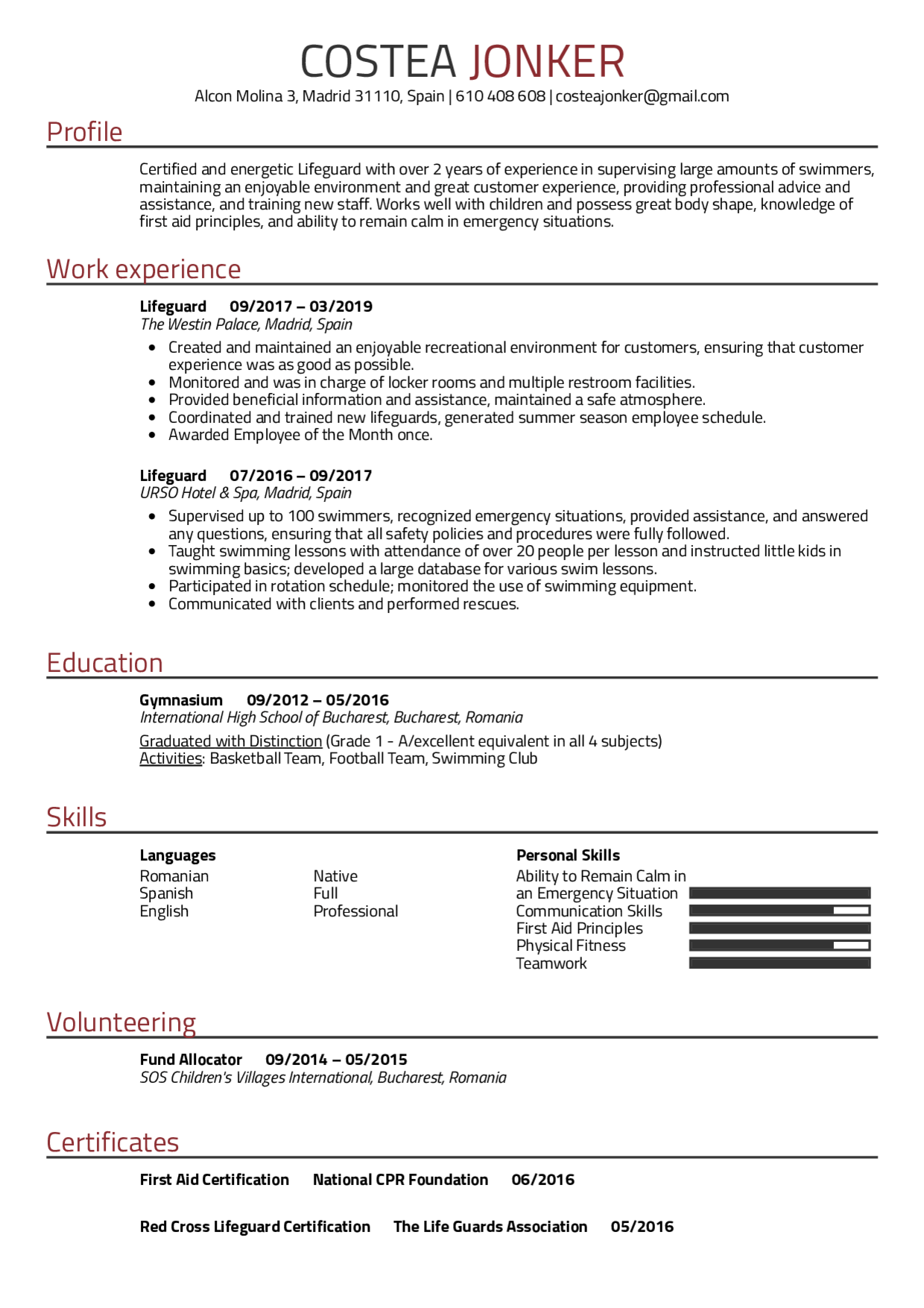 Resume template lifeguard differentiate between a formal and informal essay