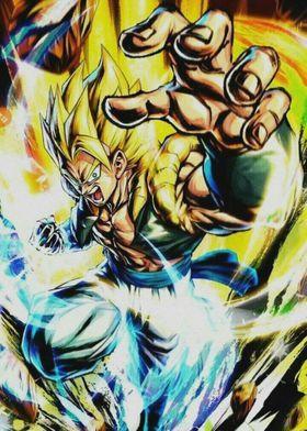 Metal Poster Gogeta Goku Vegeta Dbz