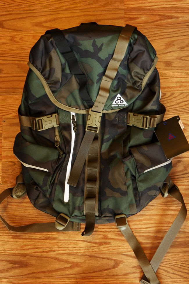 cce5f116646 Nike ACG Woodland Camo Pack Collection   Bags etc.   Nike acg, Nike ...