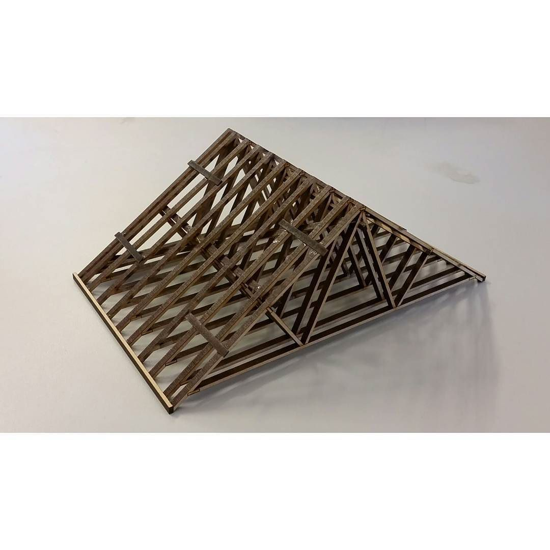 Fink roof truss model architecturaltechnology architectureporn