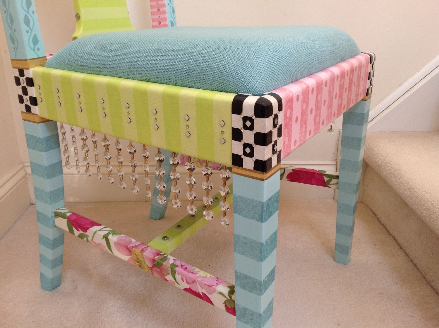 whimsical furniture and decor. Whimsical Hand Painted Chairs, RESERVED Custom Order For Furniture And Decor Y