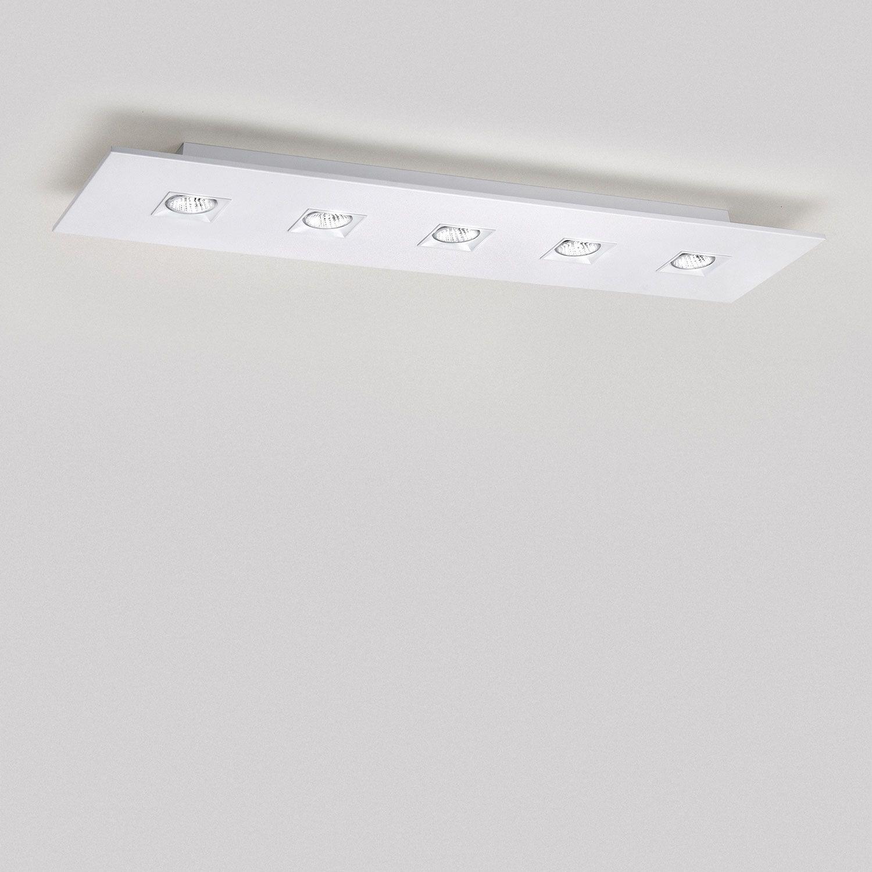 Polifemo 5 Light Rectangular Ceiling Flush Mount By Lightology