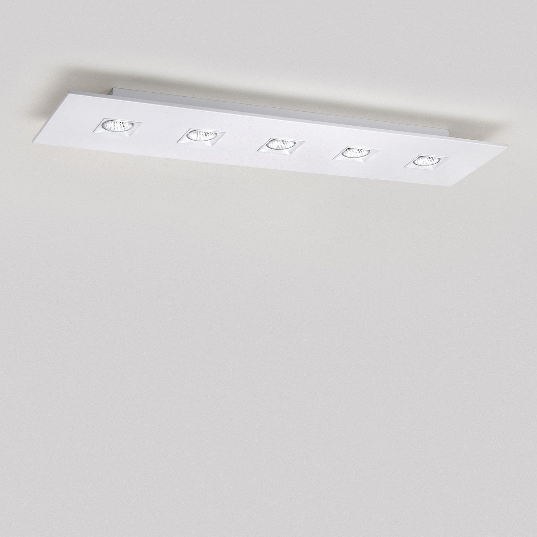 Polifemo 5 Light Rectangular Ceiling Flush Mount By