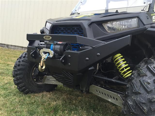 EXTREME METAL PRODUCTS-EMP RZR NITRO Front Bumper/Brush