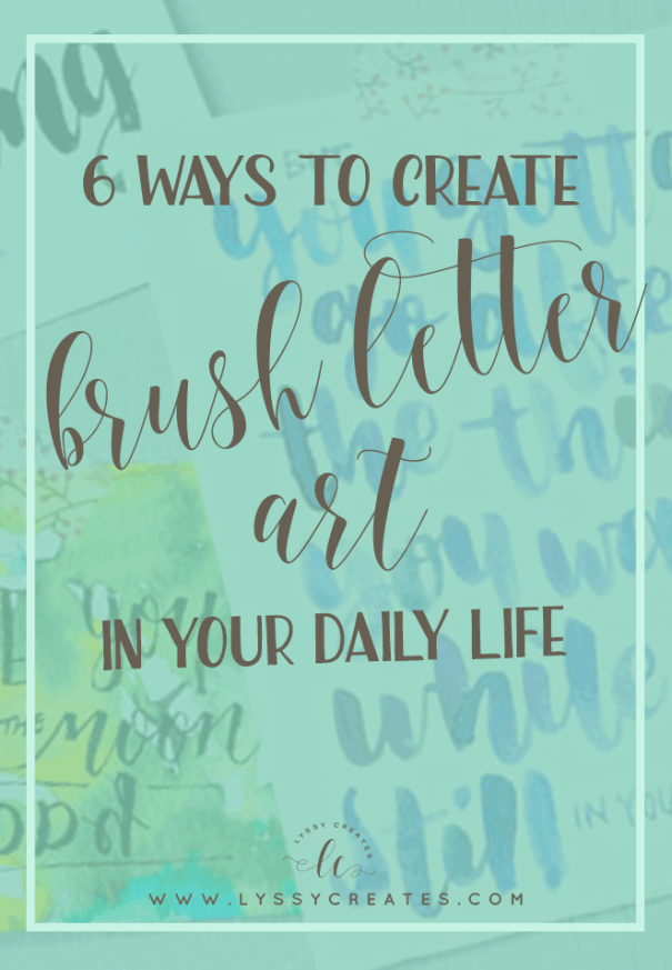 Lettering — whether you do faux calligraphy, pointed pen or brush lettering — is awesome! But what can you DO with pretty writing? This not-so-little list will show you!